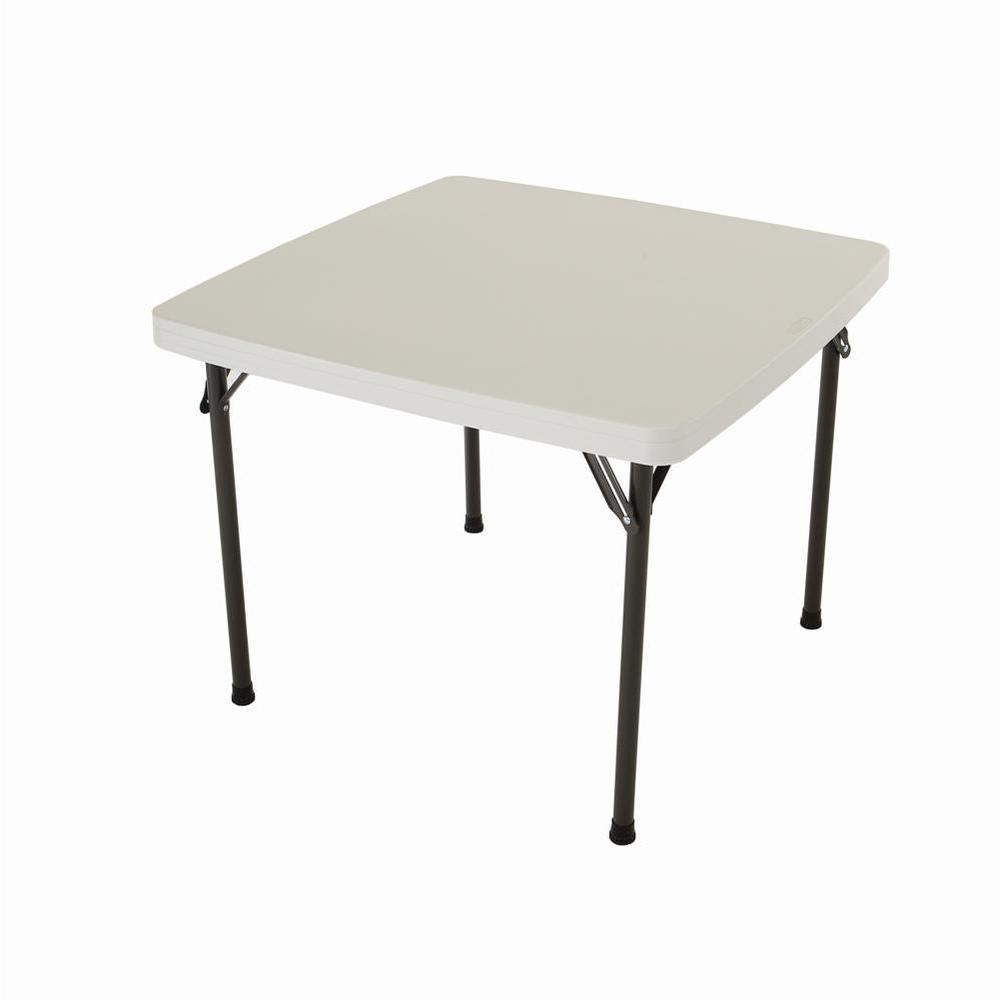 Folding Card Table Canada Lifetime 37 In Almond Plastic Folding Card Table