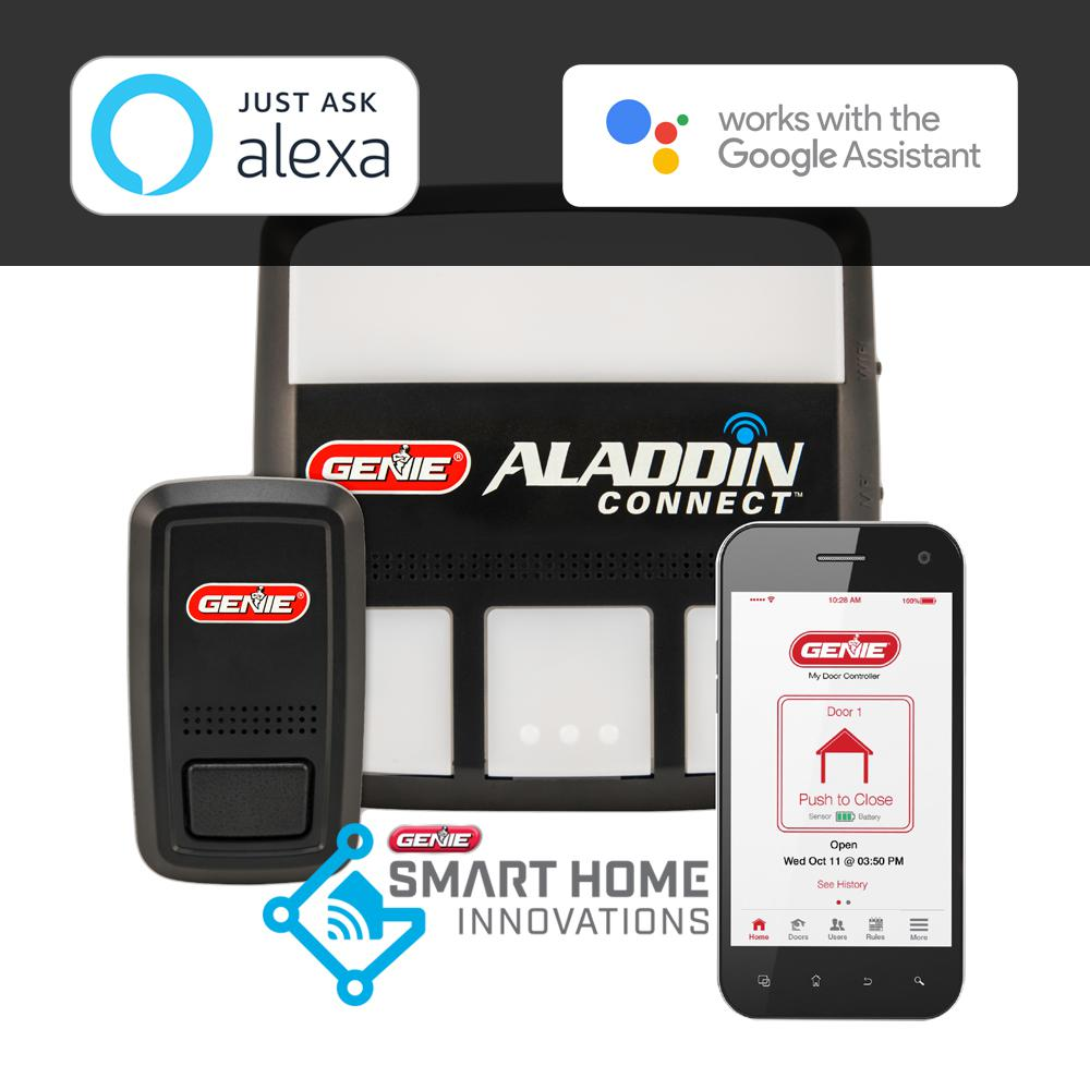Garage Door Opener Remote Not Working Light Blinking Genie Aladdin Connect Smartphone Enabled Garage Door Controller To Open And Monitor Your Door From Anywhere