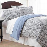 Micro Flannel Jacobean Full Queen 4-Piece Comforter Set ...