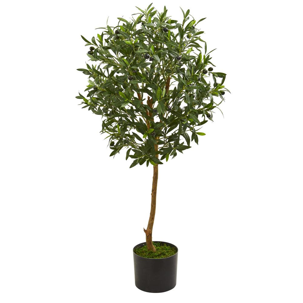 Home Depot Palm Trees Nearly Natural Indoor 3 5 In Olive Artificial Tree