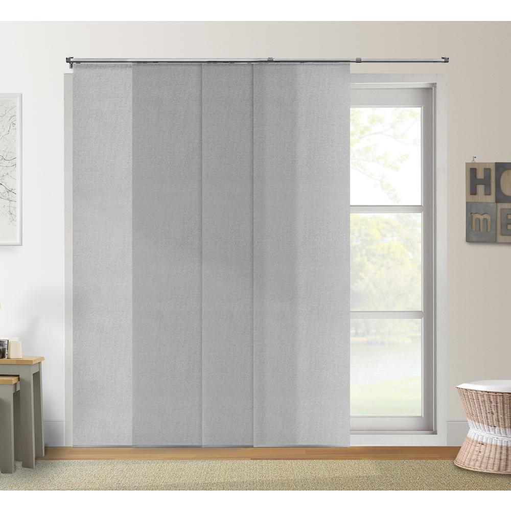 Door Privacy Curtain Chicology Adjustable Sliding Panel Cut To Length Curtain Drape Vertical Blind Light Filtering Privacy Daily Grey