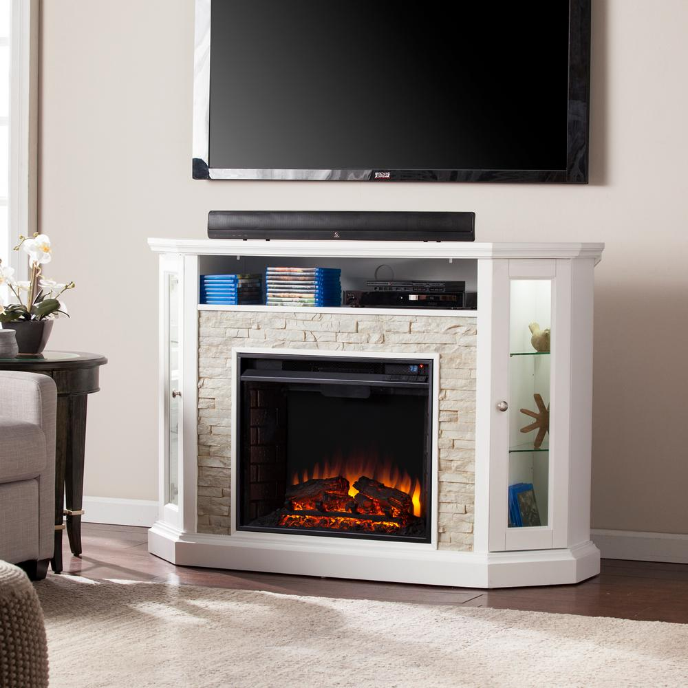 Fireplace Tv Combo Fireplace Tv Stands Electric Fireplaces The Home Depot