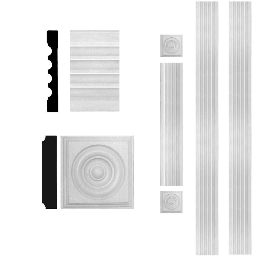 Home Depot Door Casing 3 4 In X 5 1 4 In X 8 Ft Mdf Fluted Door Casing Set