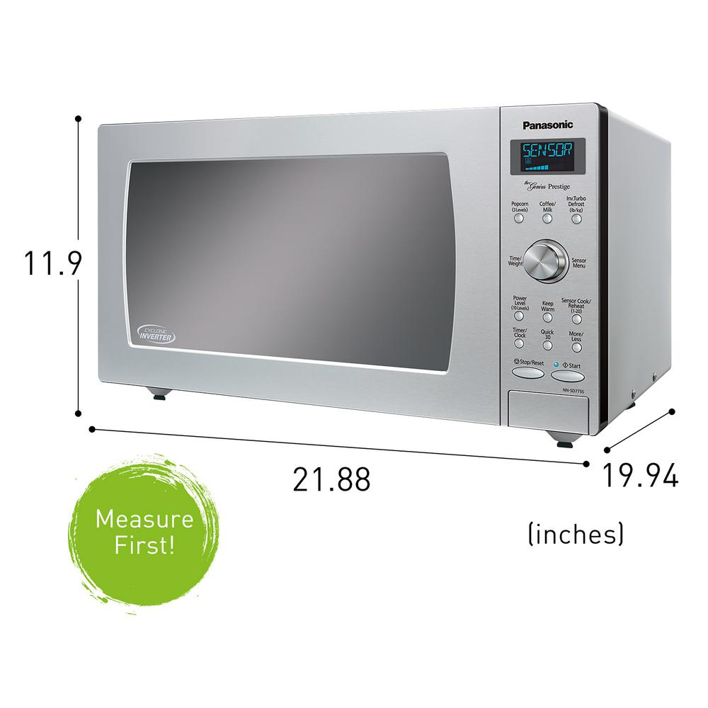 1 6 Cu Panasonic Nn Sd775 Microwave Oven Stainless Ft Countertop Microwave Ovens Small Appliances