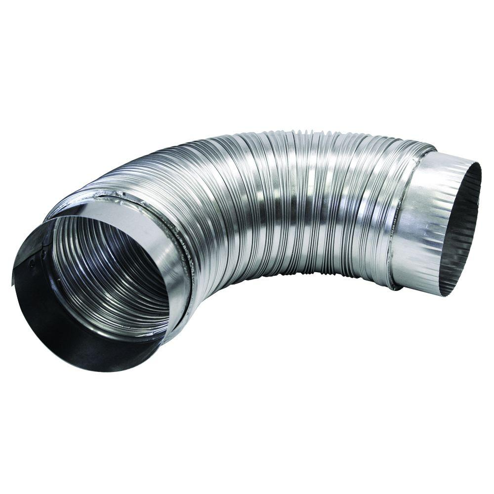 Dryer Vent Insulation Everbilt 4 In X 2 Ft Semi Rigid Aluminum Duct With Collars