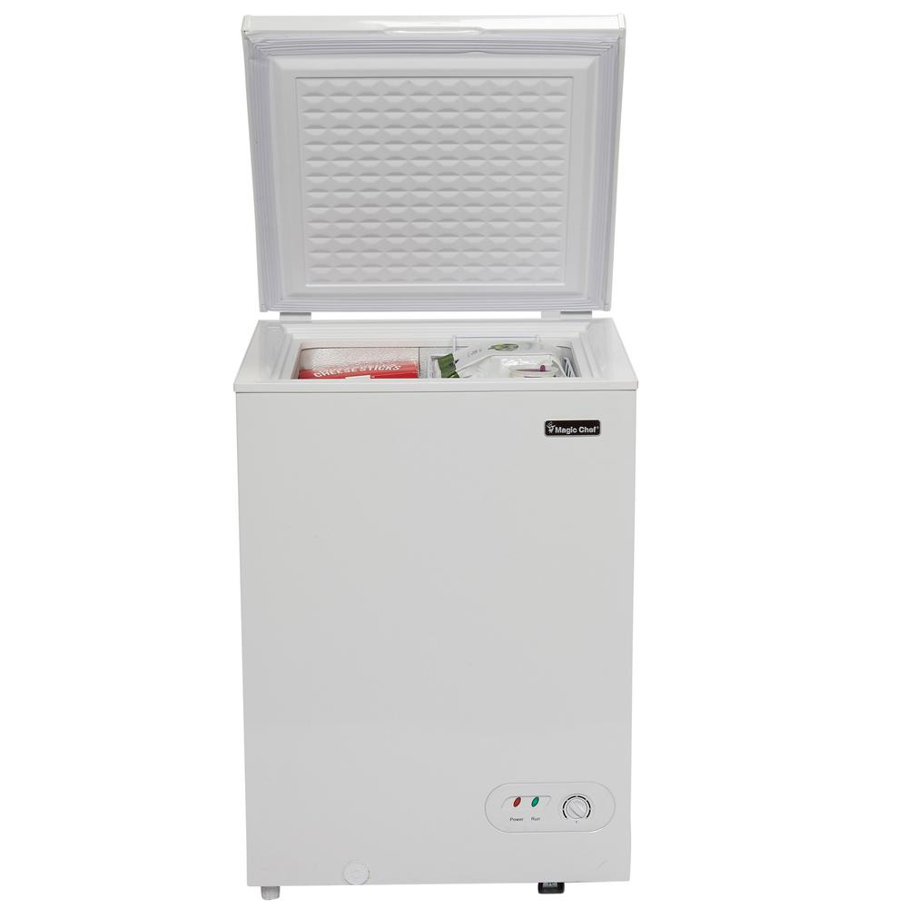 Small Freezer Canada Magic Chef 3 5 Cu Ft Chest Freezer In White