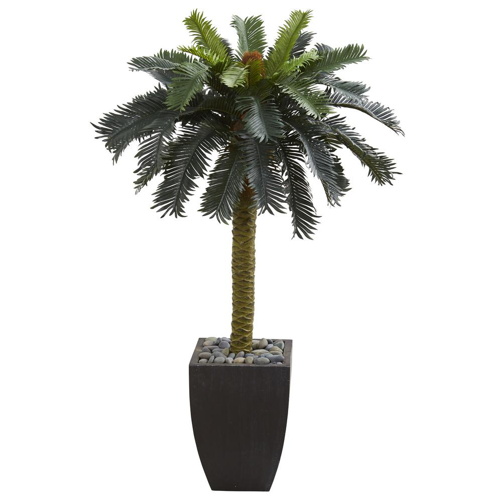 Home Depot Palm Trees Nearly Natural 7 5 Ft Phoenix Palm Tree 5406 The Home Depot
