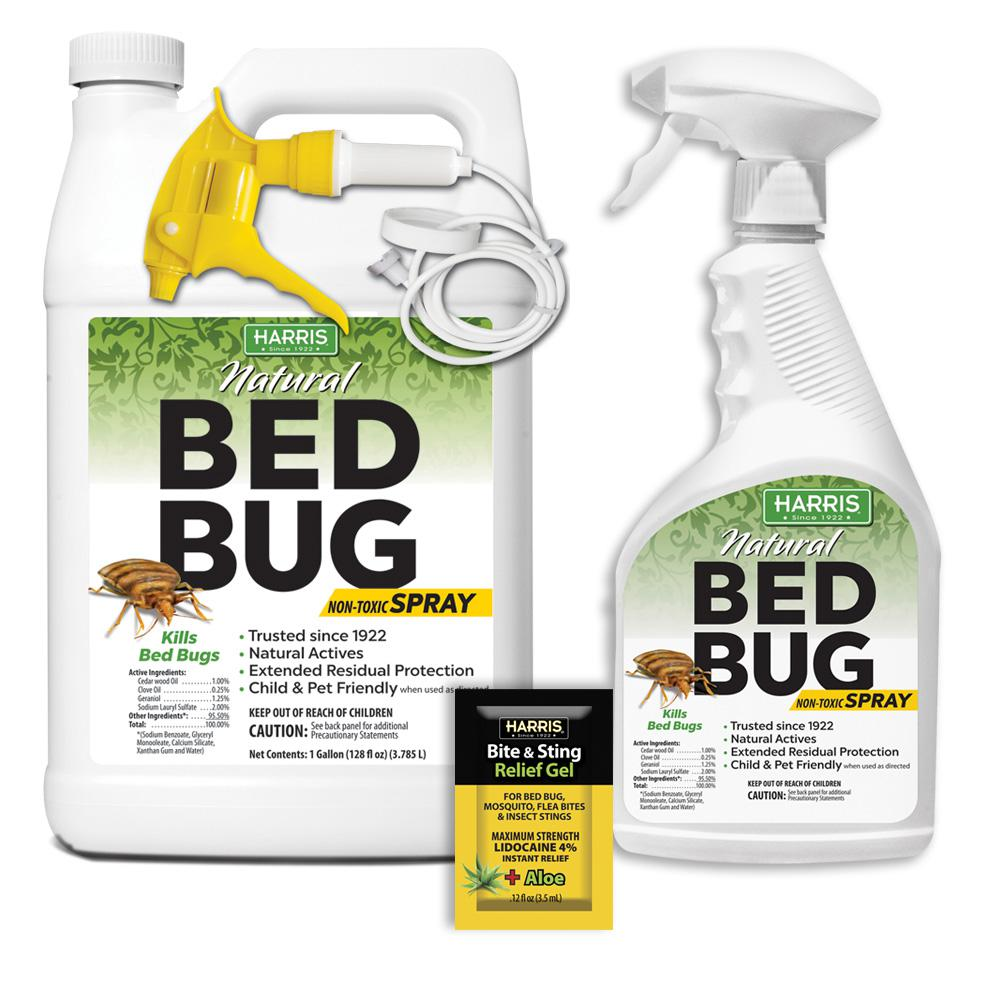 Spray To Kill Bed Bugs Harris 128 Oz And 22 Oz Natural Bed Bug Killer Spray Value Pack