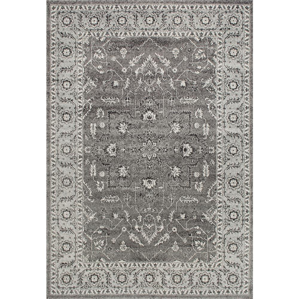 Nuloom Vintage Abbey Blossom Dark Grey 8 Ft X 10 Ft Area