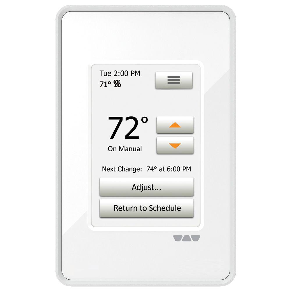 Heating Thermostat Schluter Ditra Heat Programmable Touchscreen Thermostat Bright White