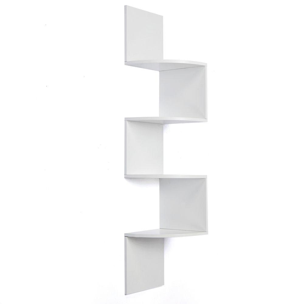 Corner Wall Shelf Unit Az Home And Gifts Nexxt Provo 4 Tier 12 In X 57 In Mdf Corner