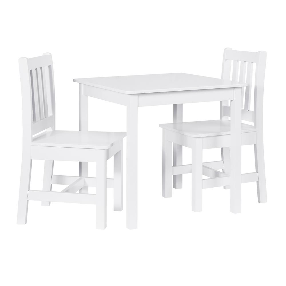 Childrens Table And Chair Set Linon Home Decor Keena 3 Piece White Kid Table And 2 Chairs Set