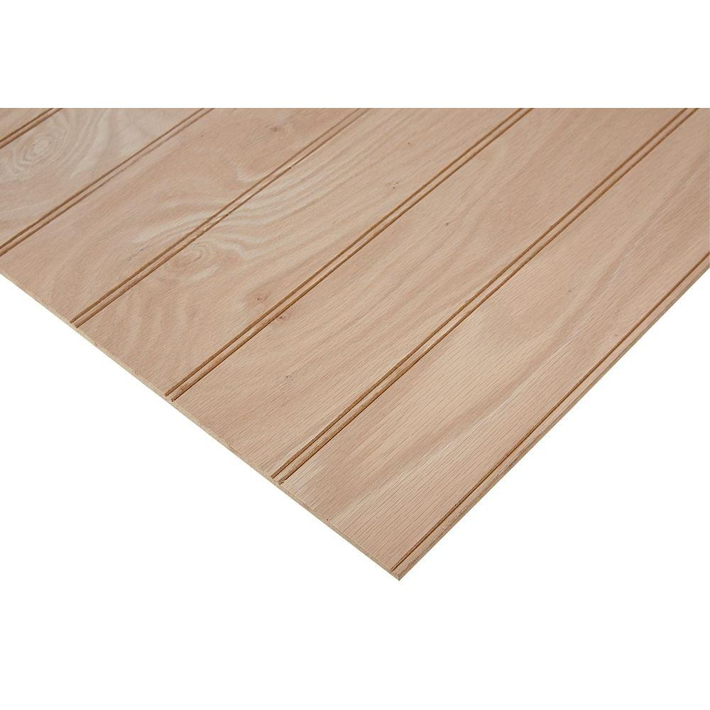 Oak Plywood Columbia Forest Products 1 4 In X 2 Ft X 8 Ft Purebond Red Oak 3