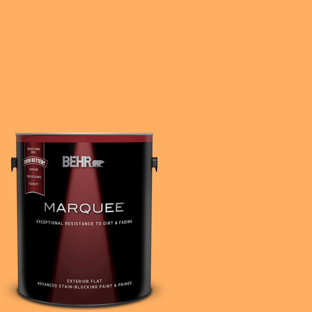 Orange Exterior Paint Behr Marquee 1 Gal 280b 5 Vintage Orange Flat Exterior Paint And Primer In One