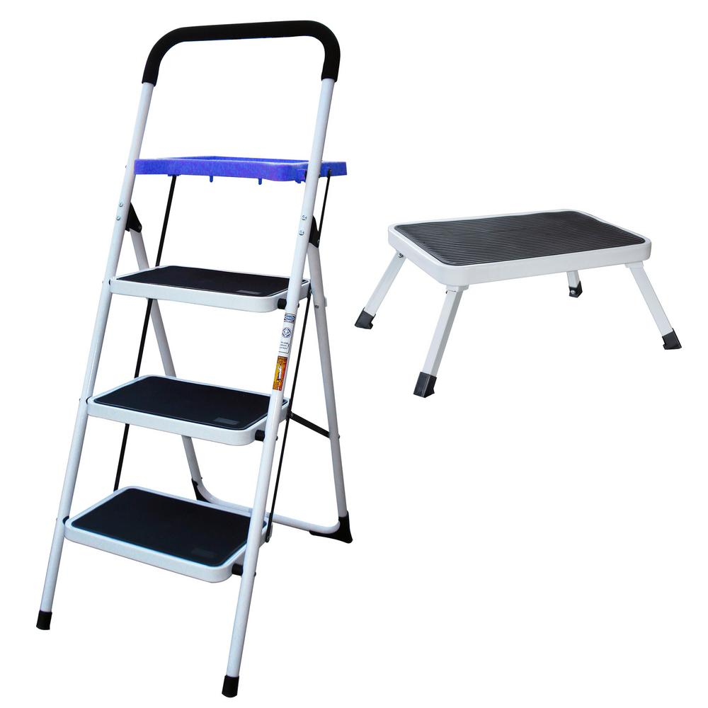 Metal Step Stool Amerihome 3 Step Metal Folding Utility Ladder With 1 Step Folding Mini Step Stool