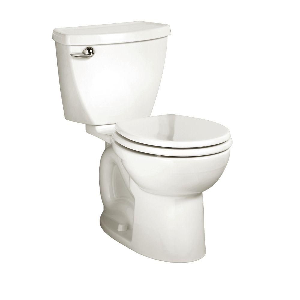 10 Inch Rough In Toilet Canada American Standard Cadet 3 Powerwash 10 In Rough In 2 Piece 1 6 Gpf Single Flush Round Toilet In White Seat Not Included