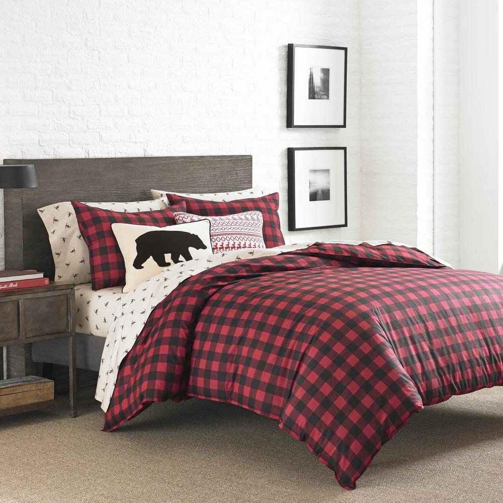 Where To Buy Nice Duvet Covers Eddie Bauer Mountain 3 Piece Scarlet Full Queen Duvet Cover Set