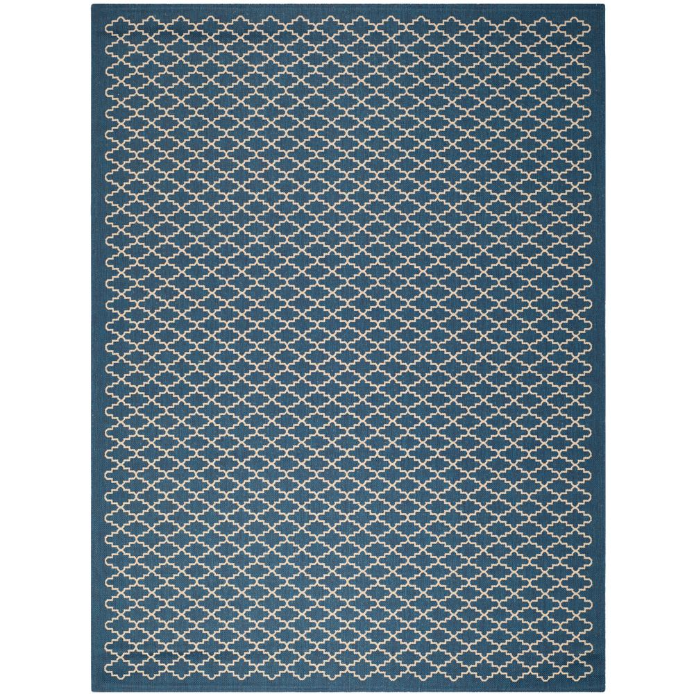 Safavieh Courtyard Safavieh Courtyard Navy Beige 9 Ft X 12 Ft Indoor Outdoor Area Rug