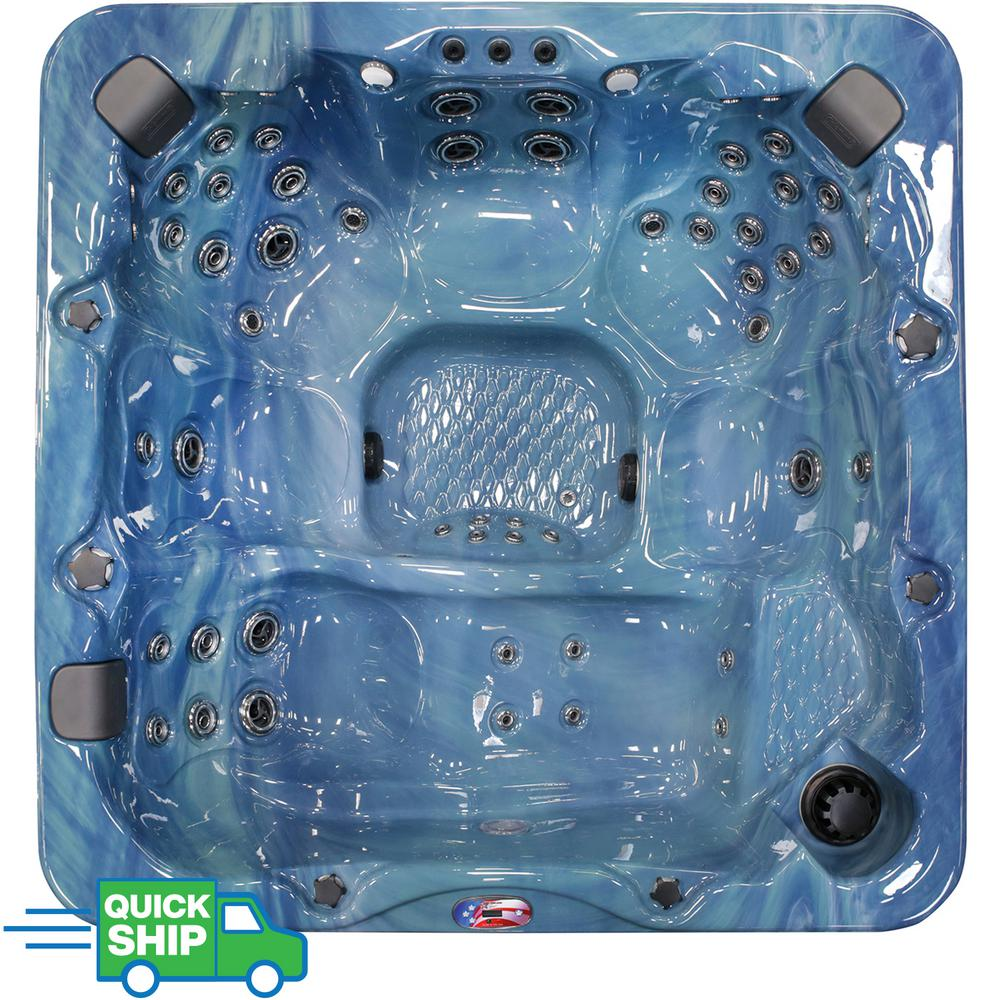 Jacuzzi Pool Manual American Spas 7 Person 56 Jet Premium Acrylic Lounger Spa Hot Tub With Bluetooth Stereo System Subwoofer And Backlit Led Waterfall