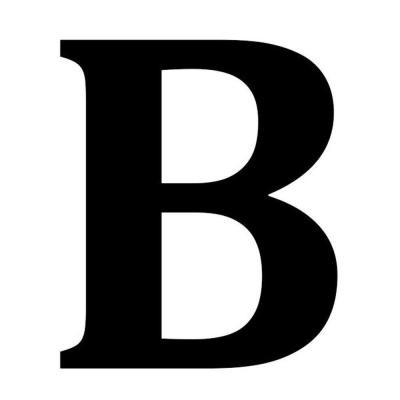 12.5 in. Metal Letter B Wall Plaque-1865602270 - The Home Depot