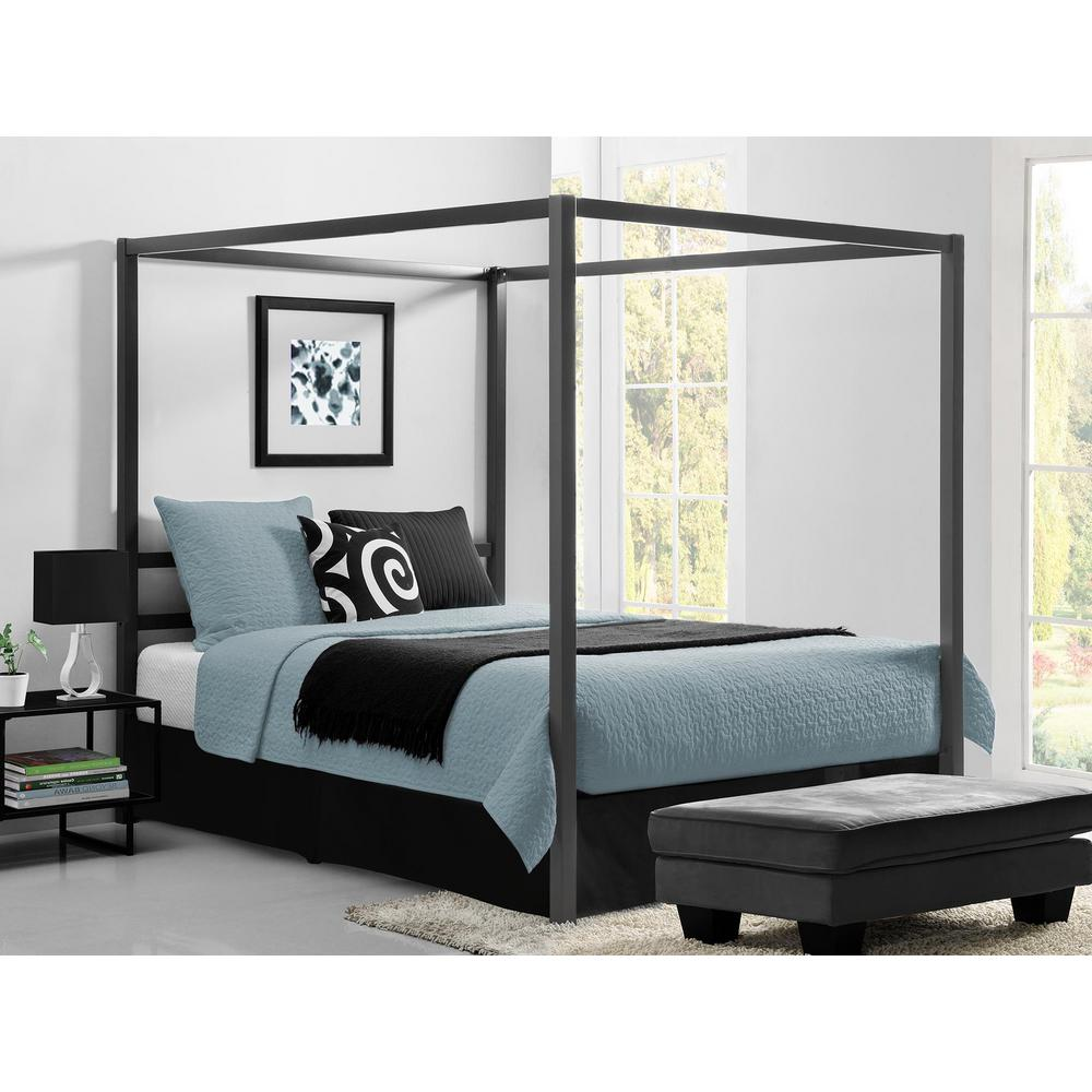 Queen Bed Frame Dhp Rory Metal Canopy Grey Queen Size Bed Frame