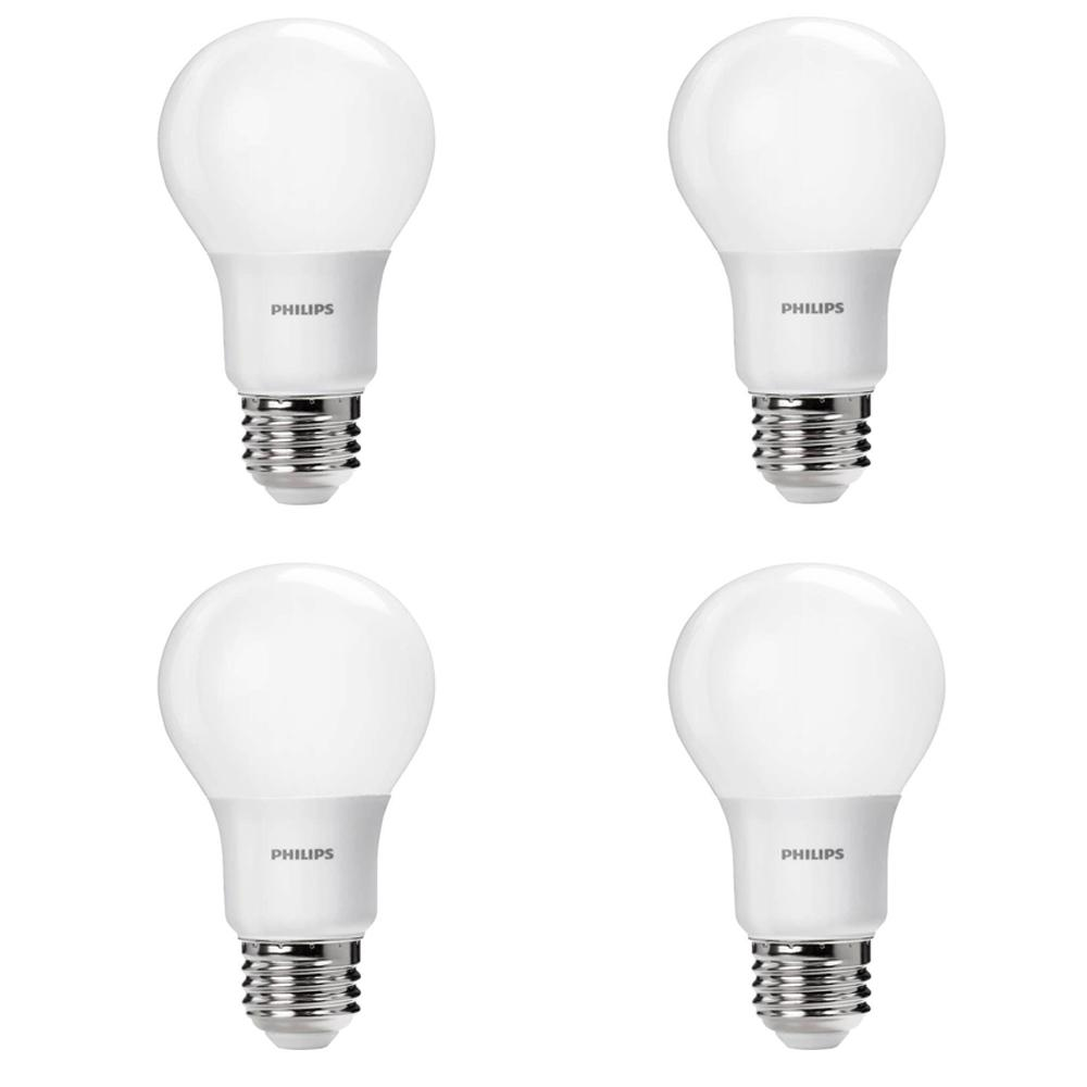 40 Watt Led Philips 40 Watt Equivalent A19 Non Dimmable Energy Saving Led Light Bulb Daylight 5000k 4 Pack