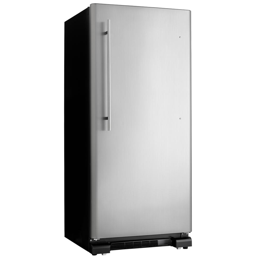 Home Depot Fridges Canada 30 In W 17 Cu Ft Freezerless Refrigerator In Black With Stainless Steel Door