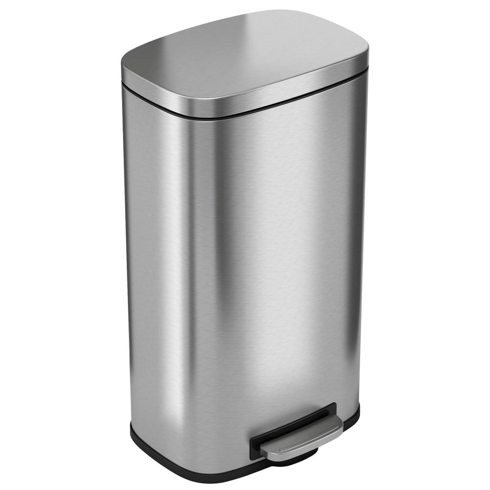 Metal Indoor Trash Can Itouchless Softstep 8 Gal Stainless Steel Step Trash Can With Odor Filter And Inner Bucket For Office And Kitchen
