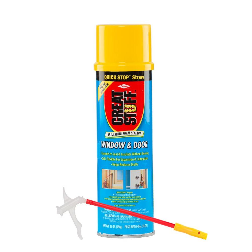 Soundproof Windows Home Depot Great Stuff 16 Oz Window And Door Insulating Foam Sealant With Quick Stop Straw