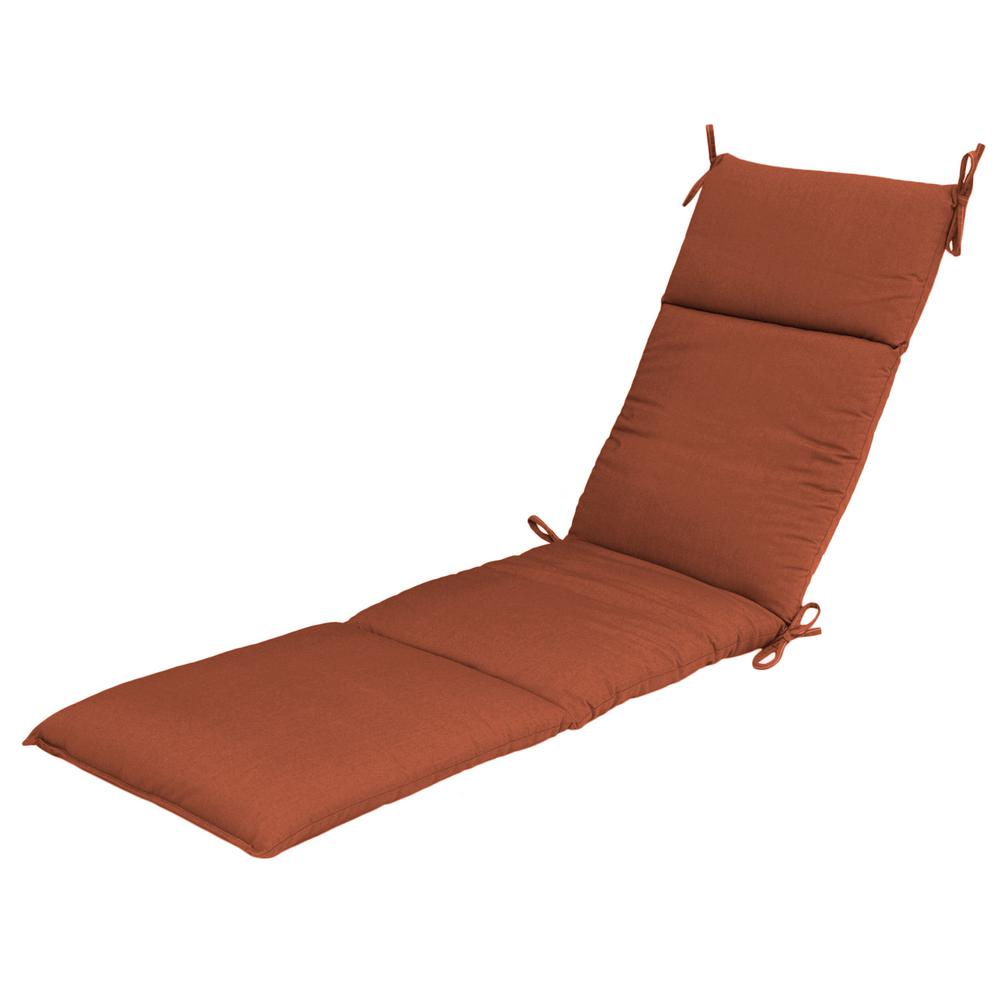 Sunbrella Canvas Paprika Outdoor Chaise Cushion 7407