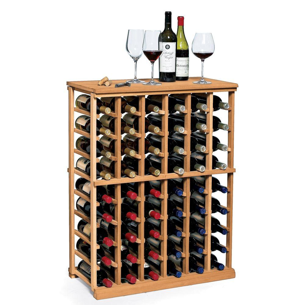 Wine Holder Stand Details About N Finity 60 Bottle Natural Wood Floor Wine Rack Holder Stand Home Decor Display