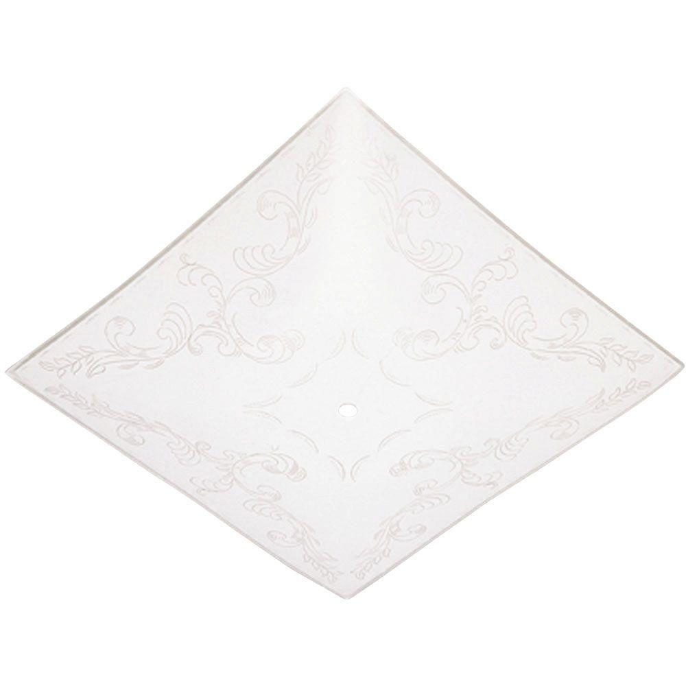 Ceiling Light Covers Details About Ceiling Light Cover 11 3 4 In Square Glass Diffuser Clear Floral Design Low