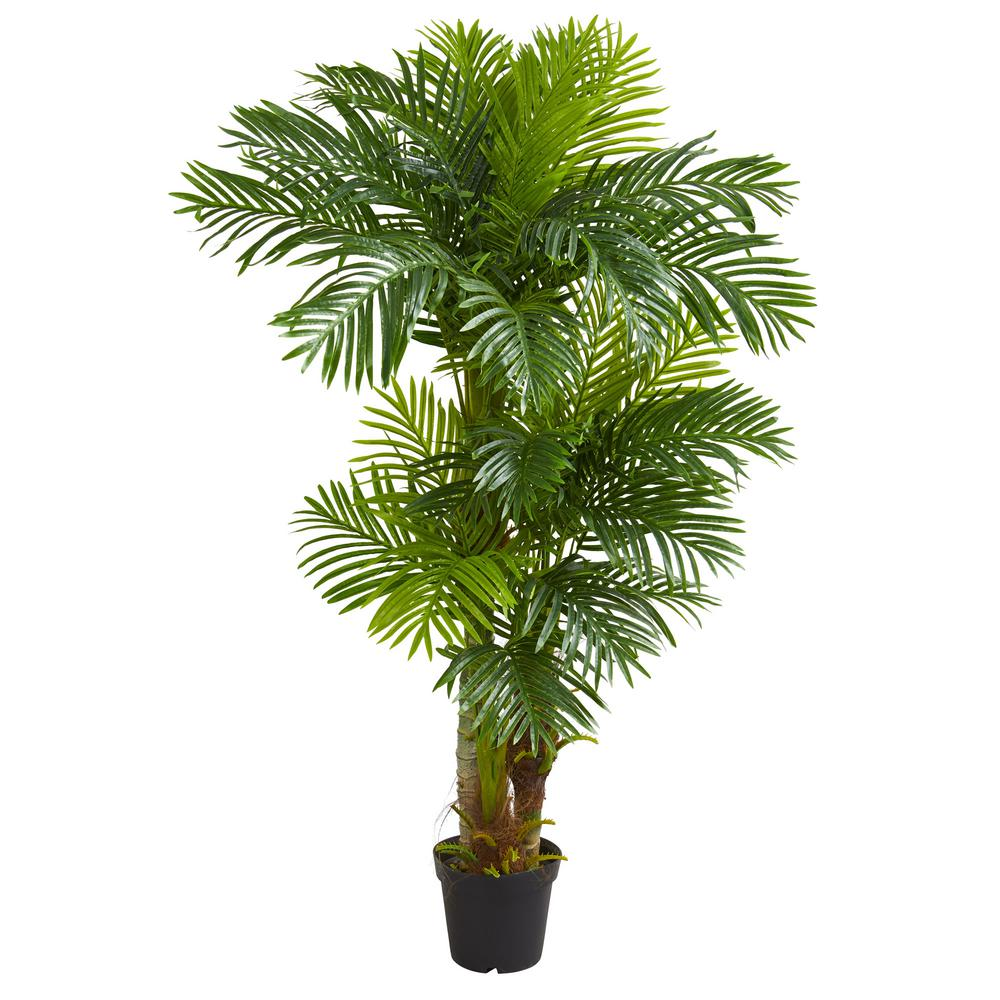 Home Depot Palm Trees Nearly Natural Indoor 6 Ft Hawaii Artificial Palm