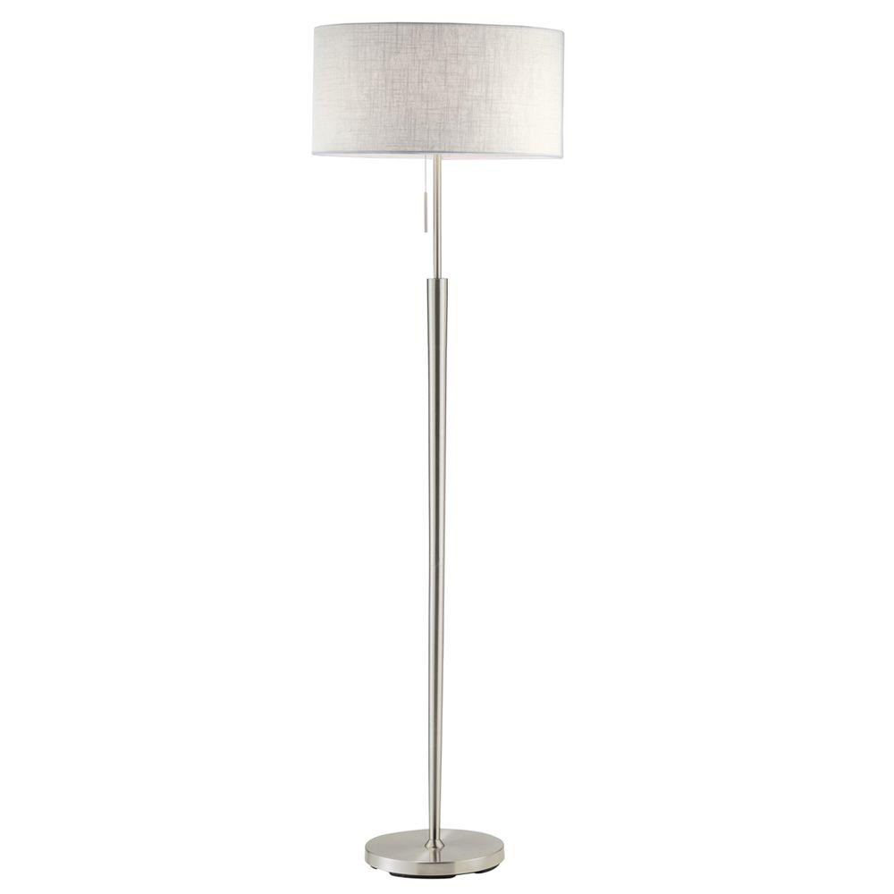 Fancy Standing Lamps Hayworth 65 In Satin Steel Floor Lamp