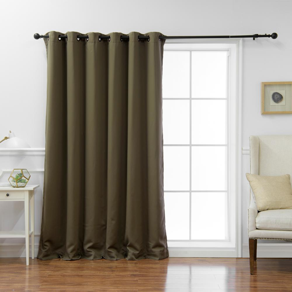Cheap Stylish Curtains Best Home Fashion Wide Basic 80 In W X 108 In L Blackout Curtain In Olive