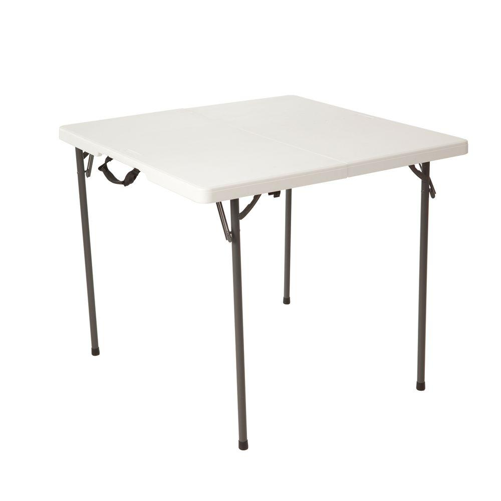 Folding Card Table Canada Lifetime 34 In Almond Plastic Fold In Half Square Folding Card Table