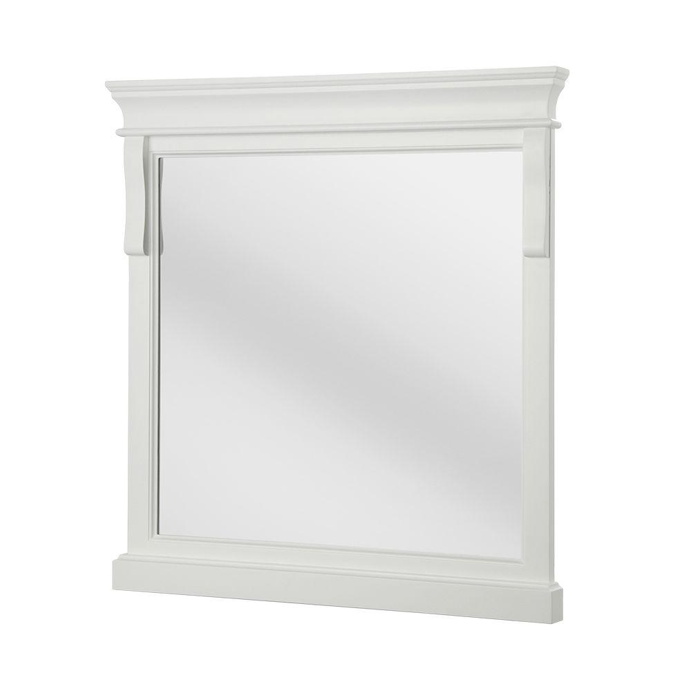 Foremost Naples 30 in. x 32 in. Framed Wall Mirror in