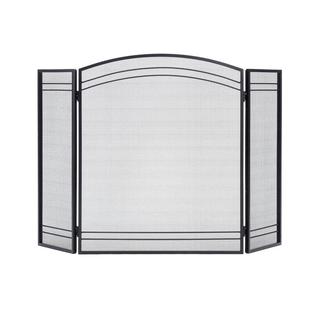 Fireplace Screen Home Depot Shelterlogic Classic Black 3 Panel Fireplace Screen