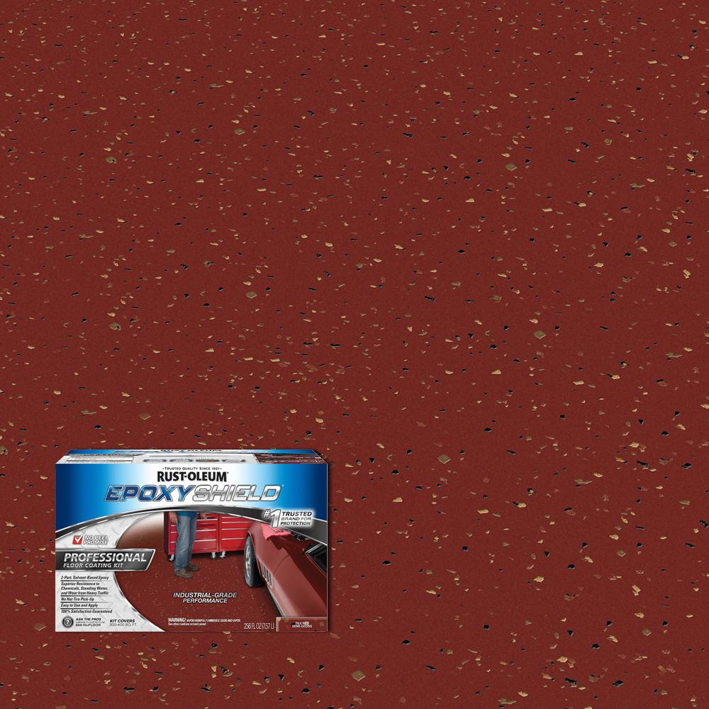 Garage Floor Tiles Or Paint 2 Gal Tile Red Semi Gloss Professional Floor Coating Kit 2 Pack