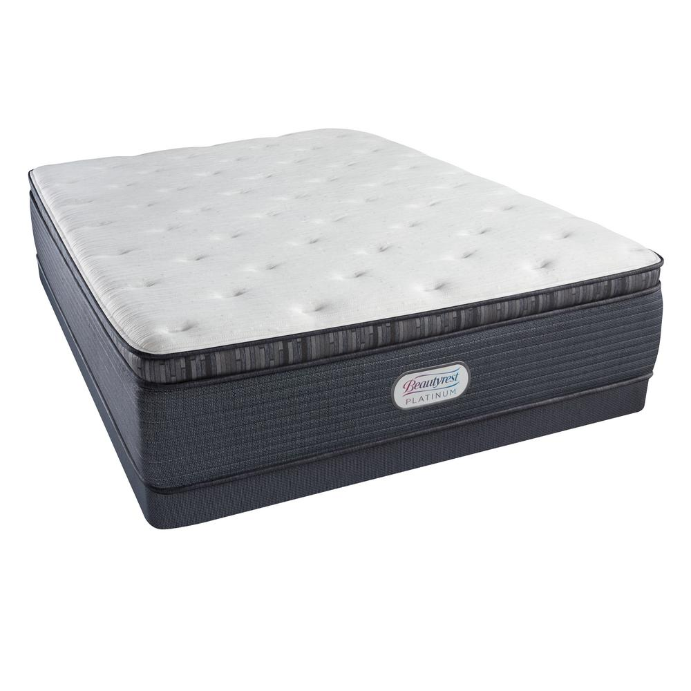 Pillow Top King Mattress Beautyrest Platinum Spring Grove Plush Pillow Top King Low Profile Mattress Set