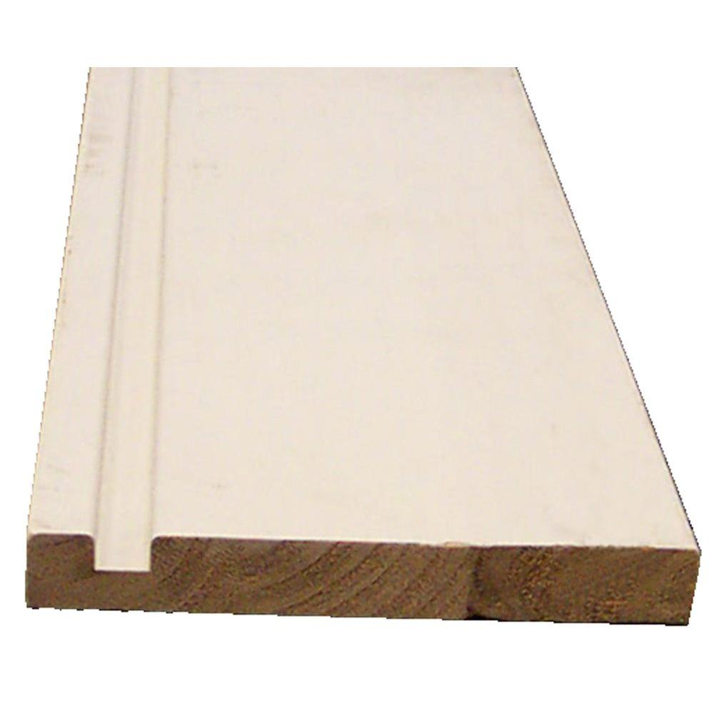 Fascia Board 1 In X 8 In X 8 Ft Finger Joint Fir Single Plow Fascia Board