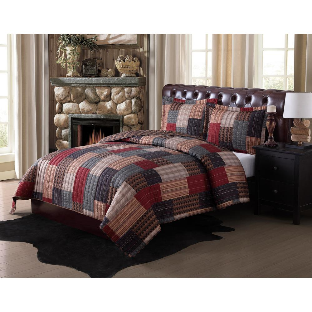 Quilt Sets Gunnison Multi Color King Quilt Set