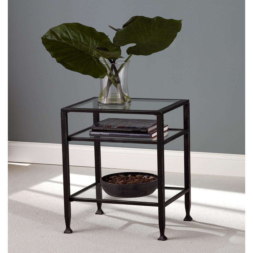 Metal Glass End Tables Black Metal End Table Ck8772 The Home Depot