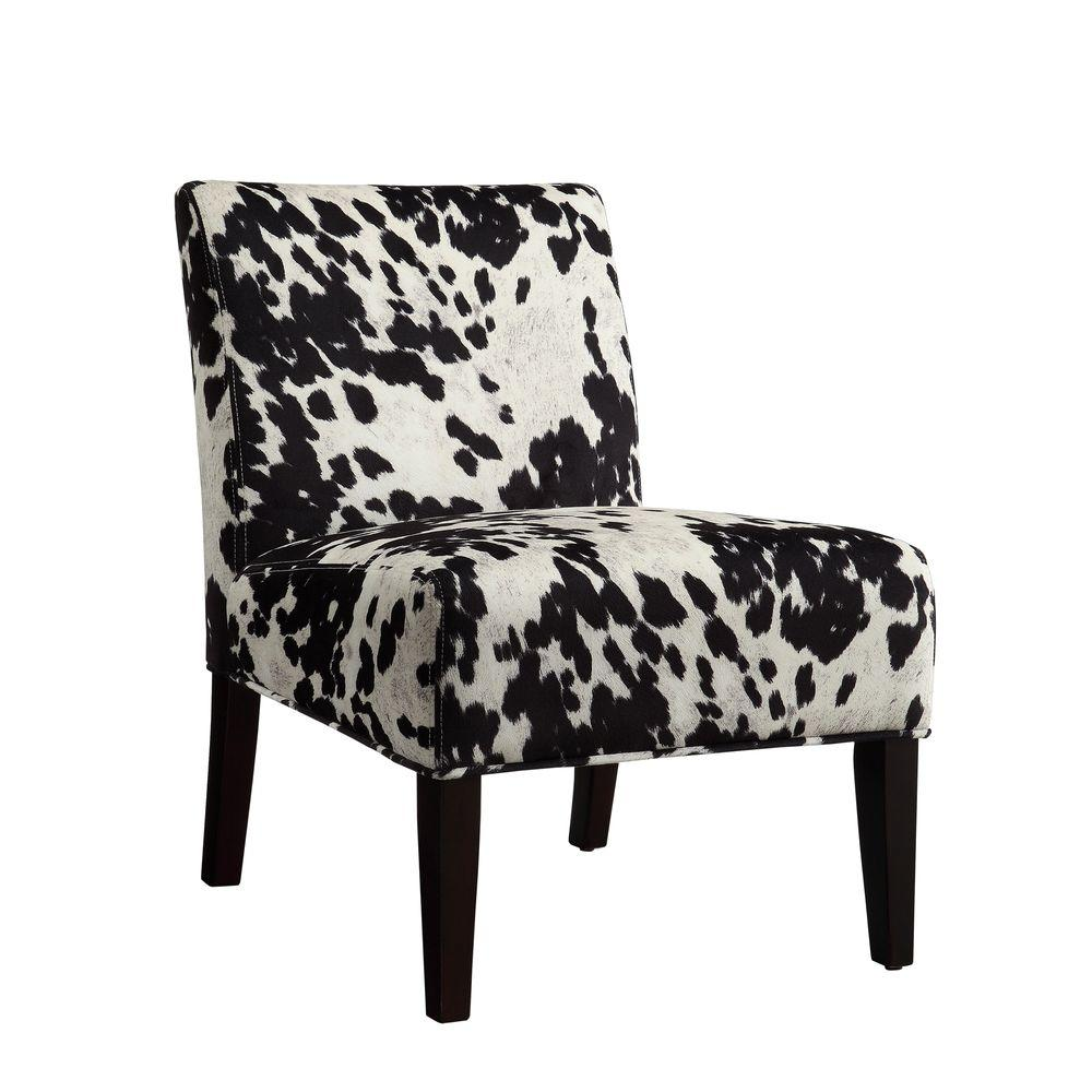 Black And White Accent Chair Homesullivan Black Cowhide Accent Chair