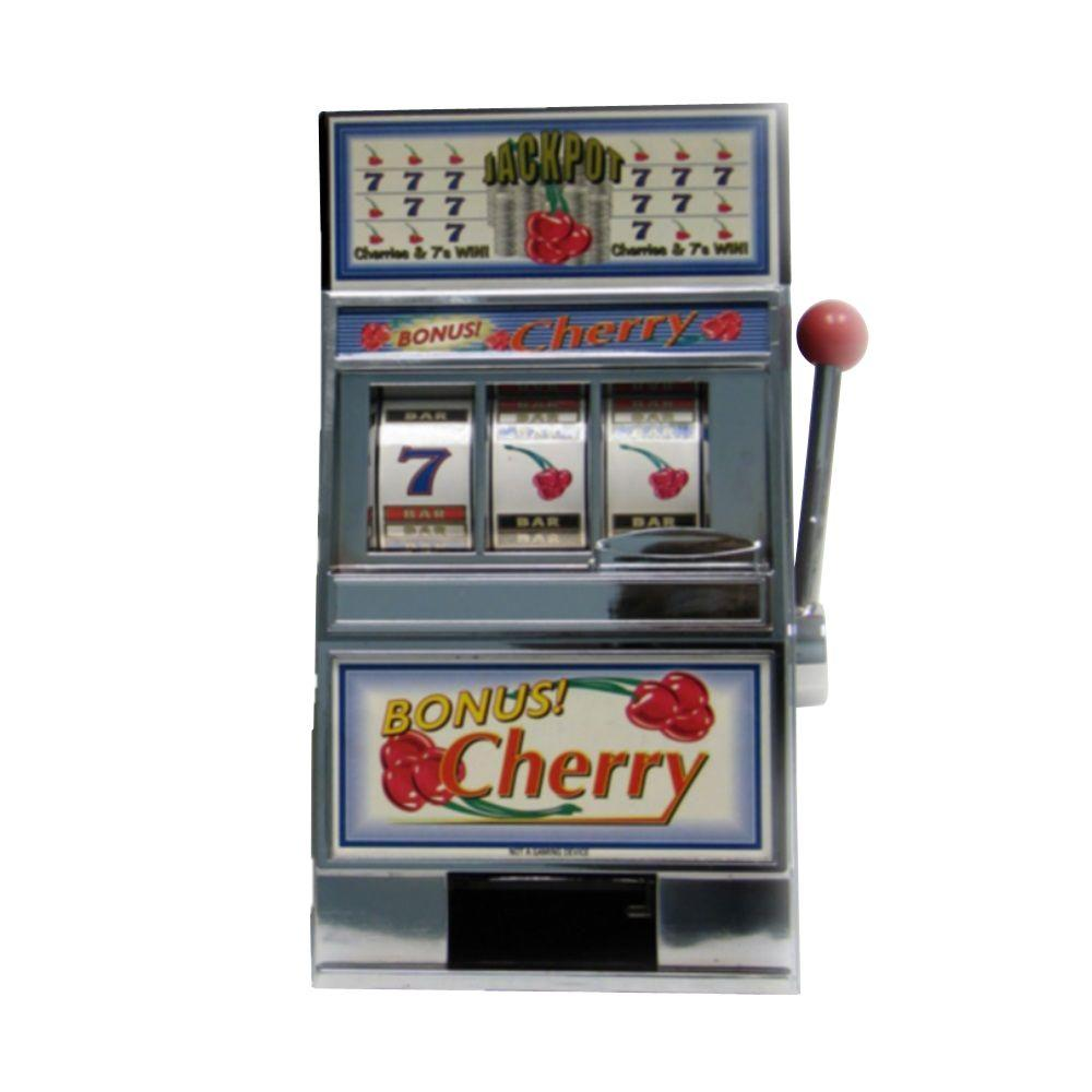 Bank Home Depot Trademark Games Cherry Bonus Slot Machine Bank