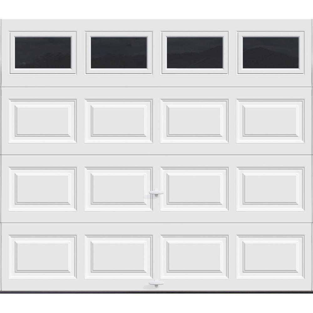 Garage Door Insulation Highest R Value Clopay Classic Collection 8 Ft X 7 Ft 12 9 R Value Intellicore Insulated White Garage Door With Plain Windows