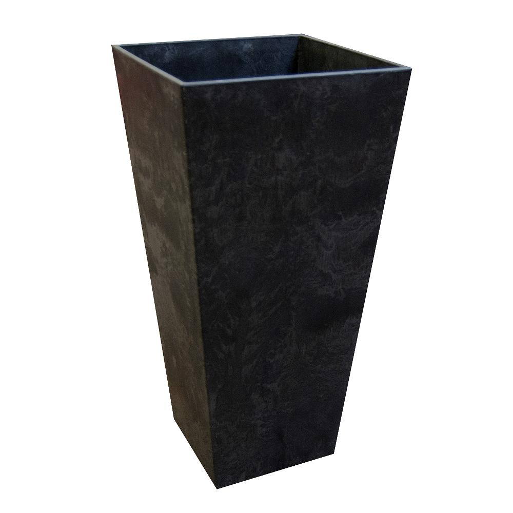 Make Self Watering Planters Tierra Verde 14 In X 27 5 In Slate Rubber Self Watering Planter