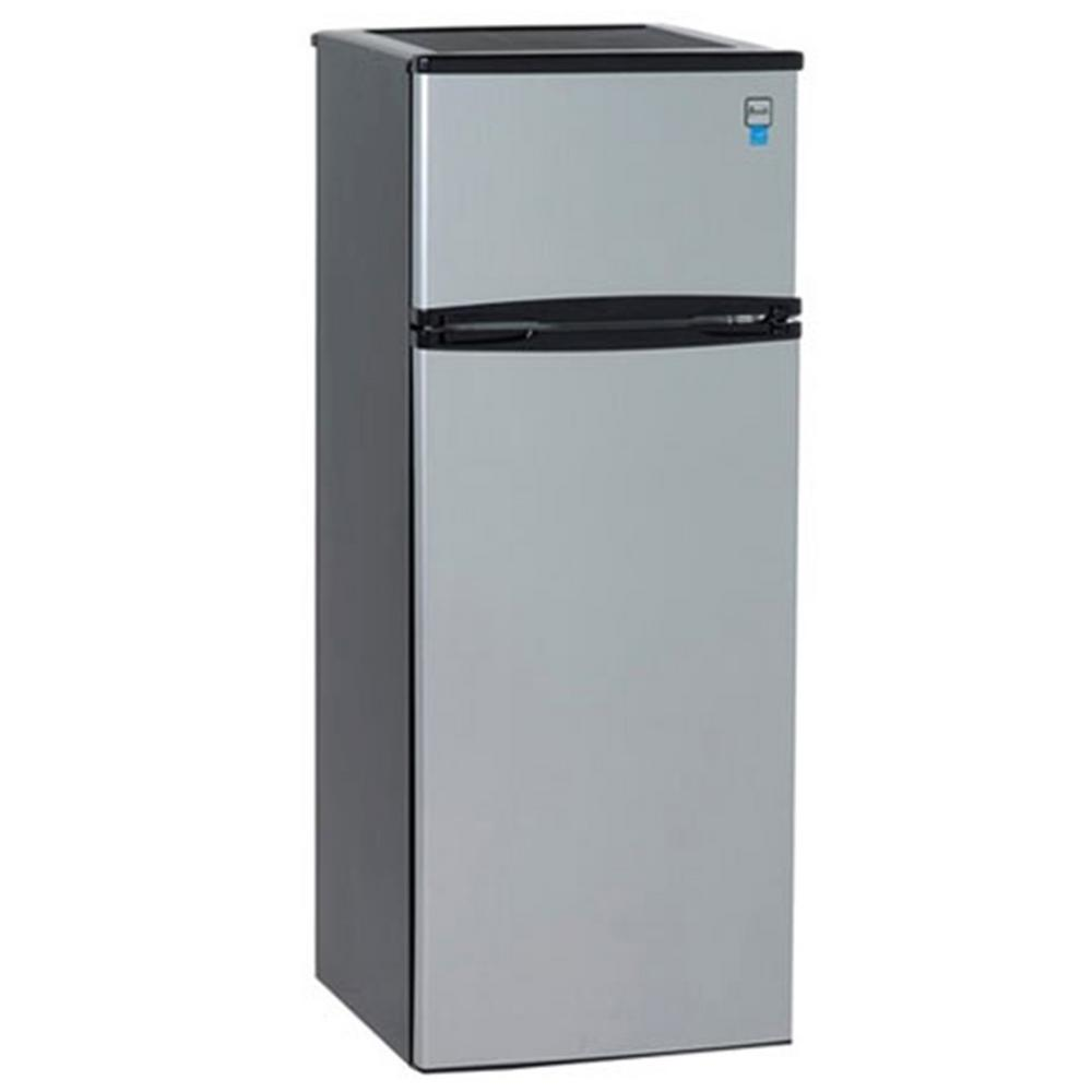 Home Depot Fridges Canada Avanti 7 4 Cu Ft Apartment Size Top Freezer Refrigerator In Black And Platinum