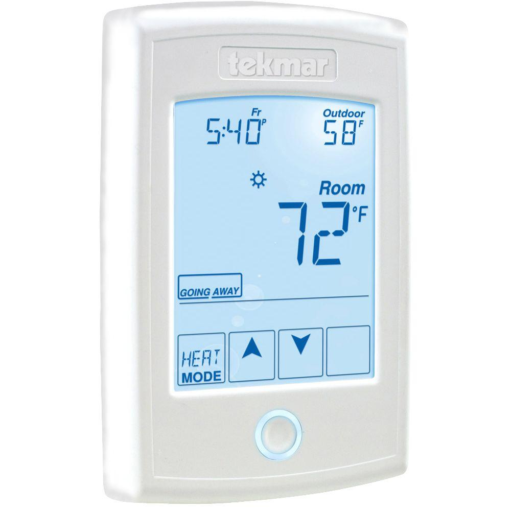 Heating Thermostat Tekmar 7 Day 1 Stage Heat Programmable Thermostat