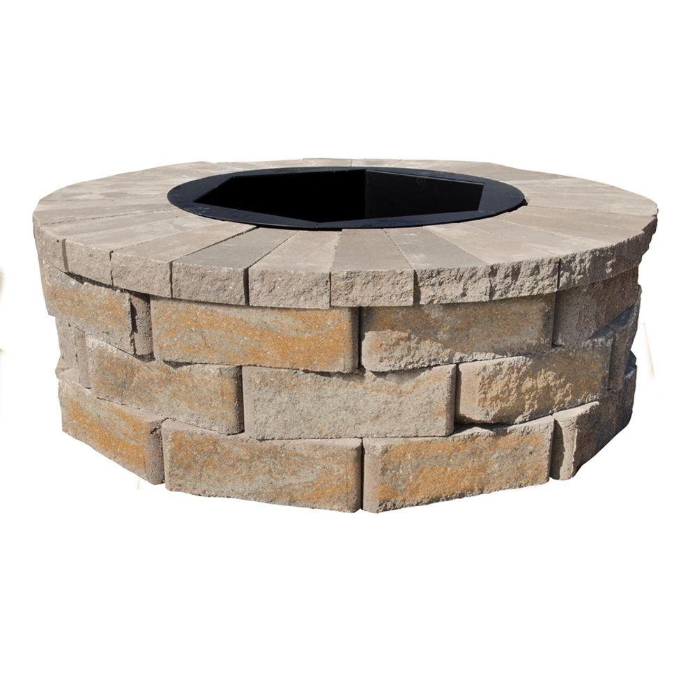 Home Depot Fire Pit Pavestone 40 In W X 14 In H Rockwall Round Fire Pit Kit Yukon